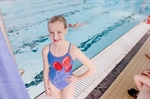 Synchronized swimmer just eight months into the sport