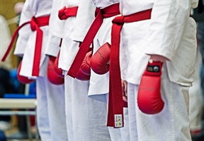 Karate: Intermediate kata competitors finish first round