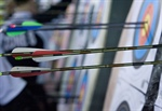 Archery: Competitors get ready for afternoon shoot