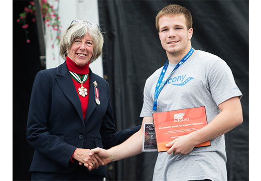 Port Alberni Wrestler wins W.R. Bennett Award