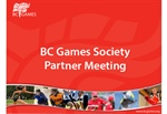 BC Games Partners Meeting