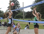 Girls Beach Volleyball: Opening games concluded