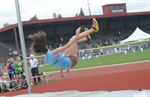 Langley's Sara Enzo comes through with gold in high jump