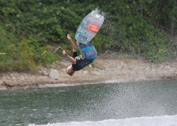 North Van's Harman soars to gold in wakeboarding