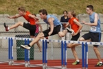 BOYS' 100M HURDLES: Langley's Ian Vandergugten wins again