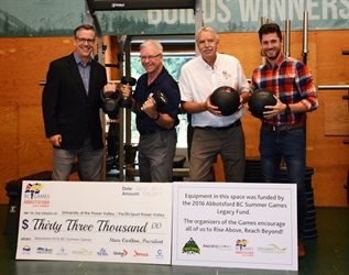 BC Summer Games legacy contributes to new fitness space at UFV