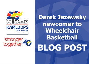 BC Winter Games Wheelchair Athlete, Derek Jezewsky