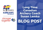 Long Time Canadian Archery Coach, Susan Lemke