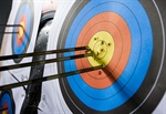 Archery: It is a dead heat atop the standings after day one