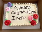 Thank you for 20 years, Irene!