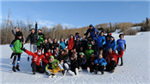 Windy weather didn't stop the fun at Alpine Skiing