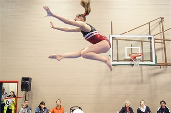 Gymnastics: Competition is tight, and Delta's club is impressing