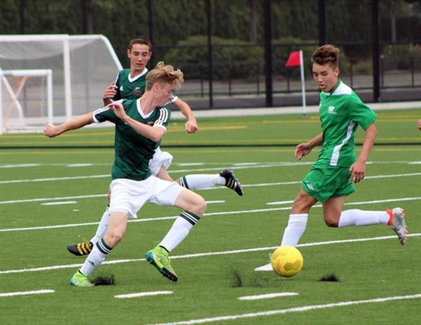 Vancouver Island takes early lead in boys soccer
